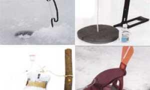 Оснастка жерлиц для зимней ловли